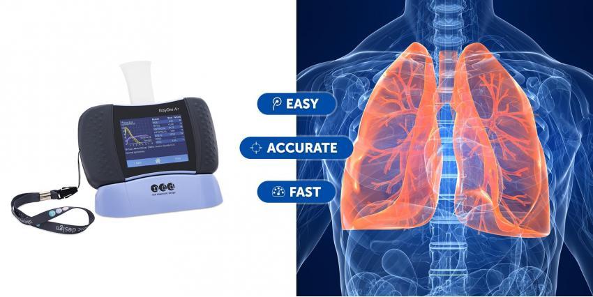 EasyOne Air: un spiromètre sans contact de ndd Medical