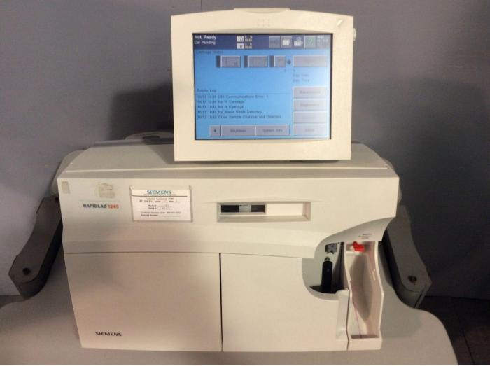 Used SIEMENS RAPIDLab 1245 Analyzer Electrolytes and Blood Gas For Sale -  Bimedis ID1074905
