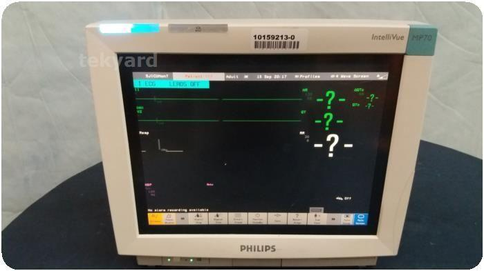 Used PHILIPS MP70 M8007A Cardiac Care Patient For Sale - Bimedis ID1123253