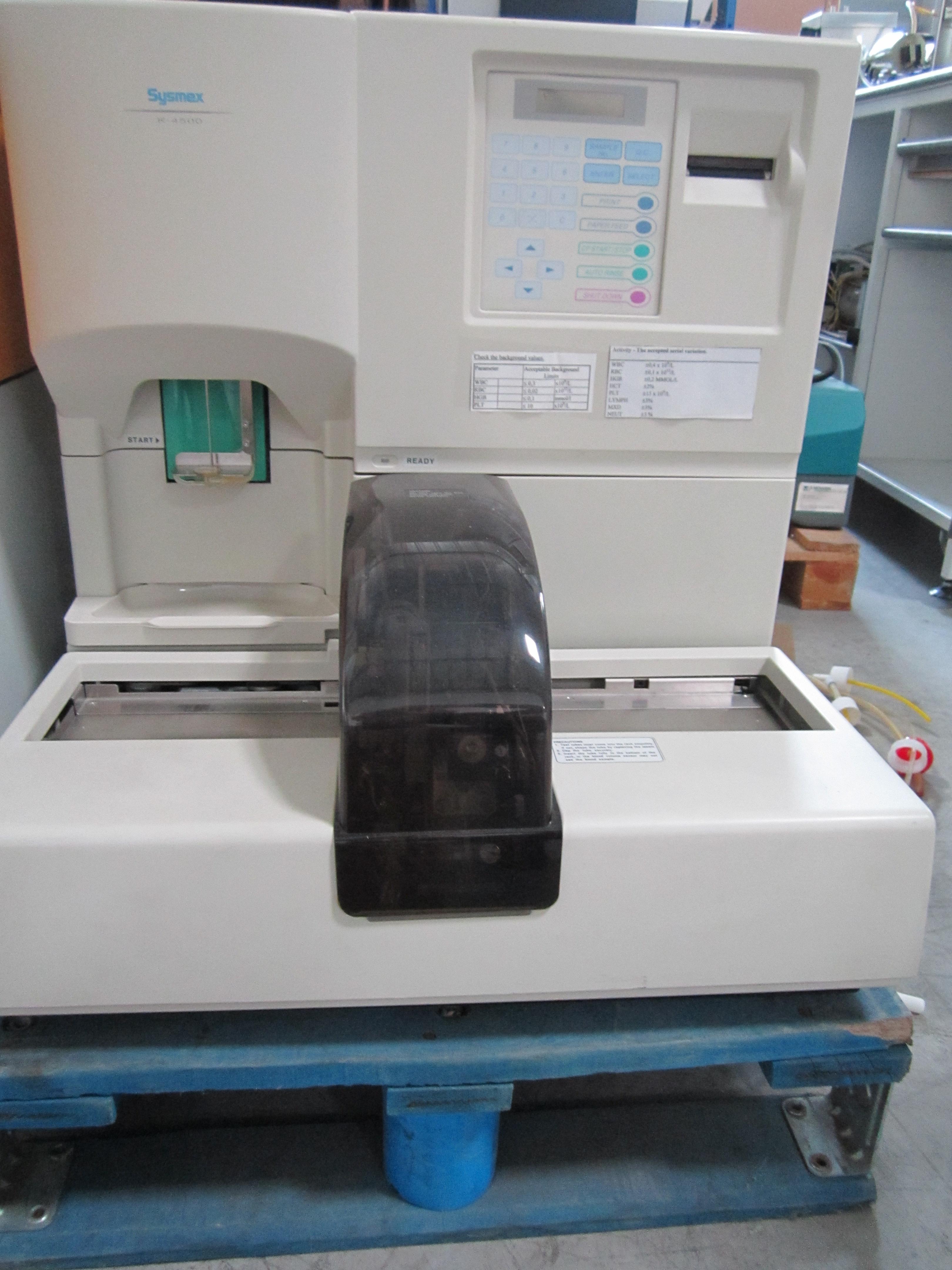 Refurbished SYSMEX K4500 Hematology Analyzer For Sale - Bimedis ID1106269